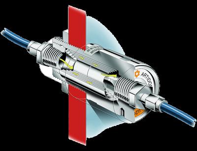 AR-081 ATEX wanddoorvoer 3D tekening