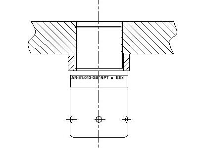 AR-081 ATEX wanddoorvoer - condensafvoer
